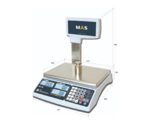 Весы настольные электронные со стойкой Мас мастер мр1п
